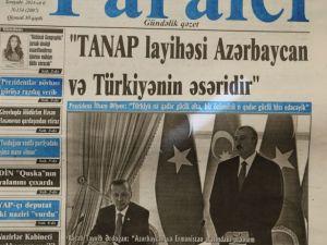 Erdoğan'ın ziyareti Azerbaycan basınında
