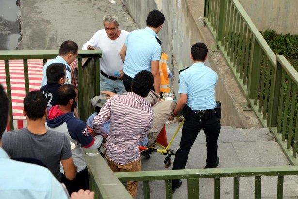 Metrobüs üst geçidinde silahlı saldırı 7