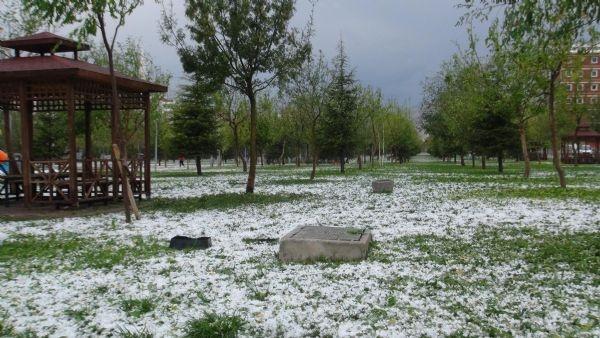 Dolu Konya'yı beyaza bürüdü 6