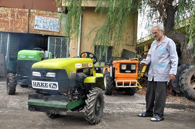 Uzaktan kumandalı bahçe traktörü üretti 1