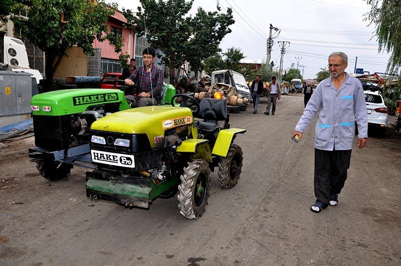 Uzaktan kumandalı bahçe traktörü üretti 9