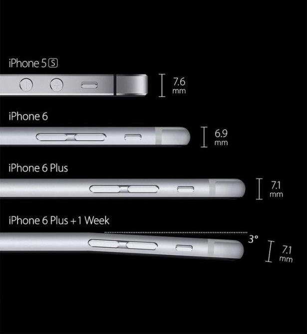 Bükülen iPhone 6 sosyal medyayı salladı 8