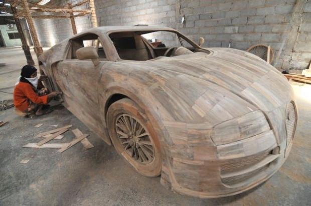 Ağaçtan Yapılan Bugatti 1
