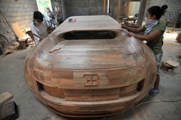 Ağaçtan Yapılan Bugatti 15