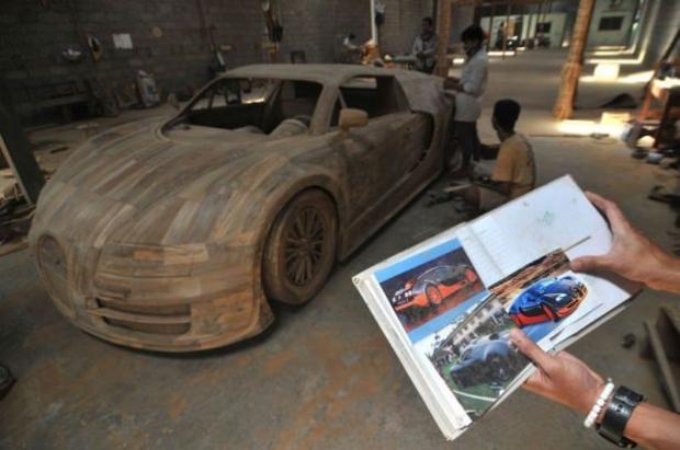 Ağaçtan Yapılan Bugatti 2