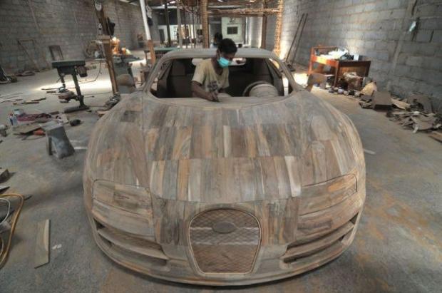 Ağaçtan Yapılan Bugatti 3