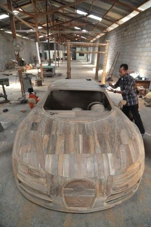 Ağaçtan Yapılan Bugatti 4