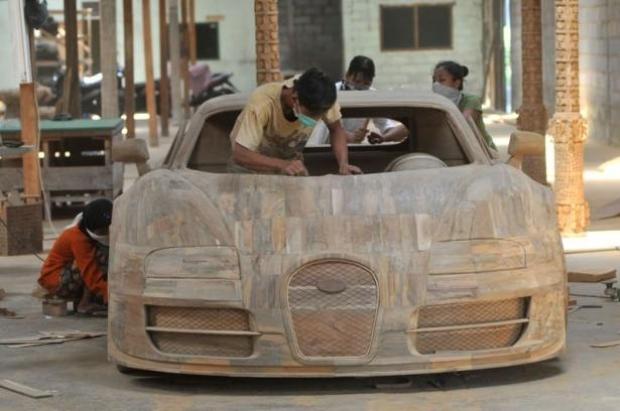 Ağaçtan Yapılan Bugatti 5