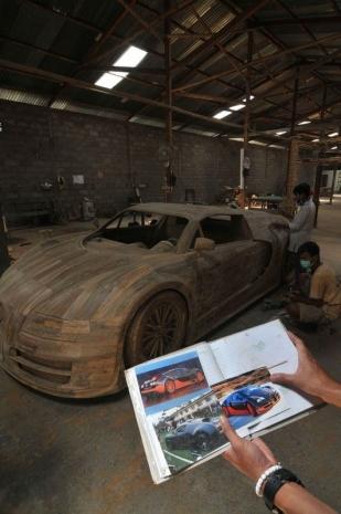 Ağaçtan Yapılan Bugatti 6
