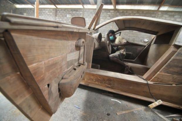 Ağaçtan Yapılan Bugatti 9