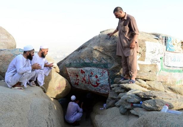 Hacı adayları Sevr dağında 2