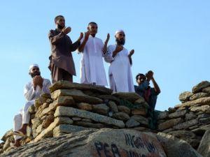 Hacı adayları Sevr dağında