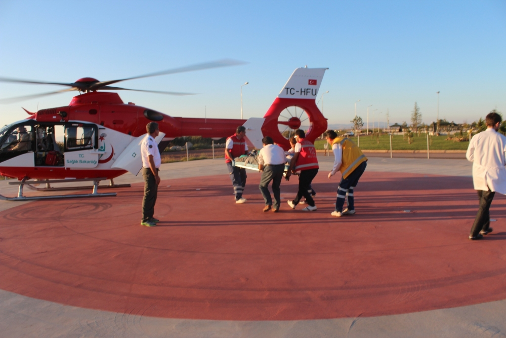 Hava ambulansı inşaat işçisi için havalandı 1