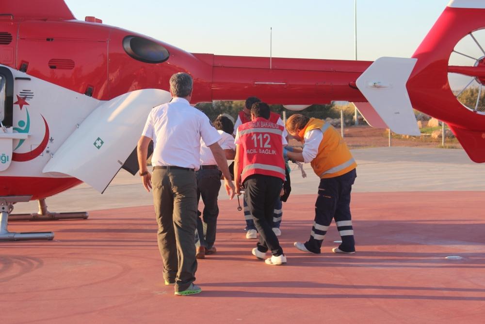 Hava ambulansı inşaat işçisi için havalandı 2