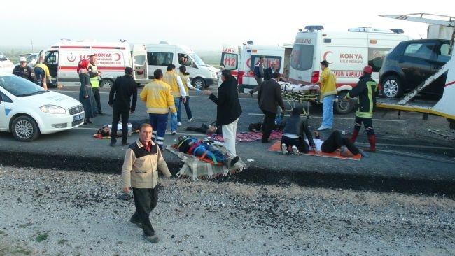Konya'da zincirleme facia: 9 ölü 36