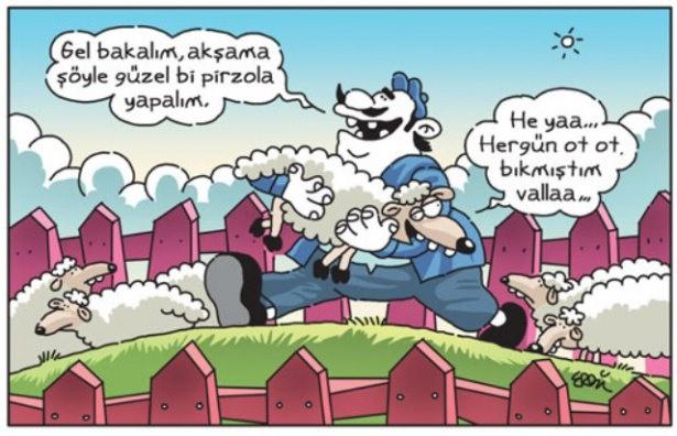 Birbirinden komik kurban karikatürleri 2
