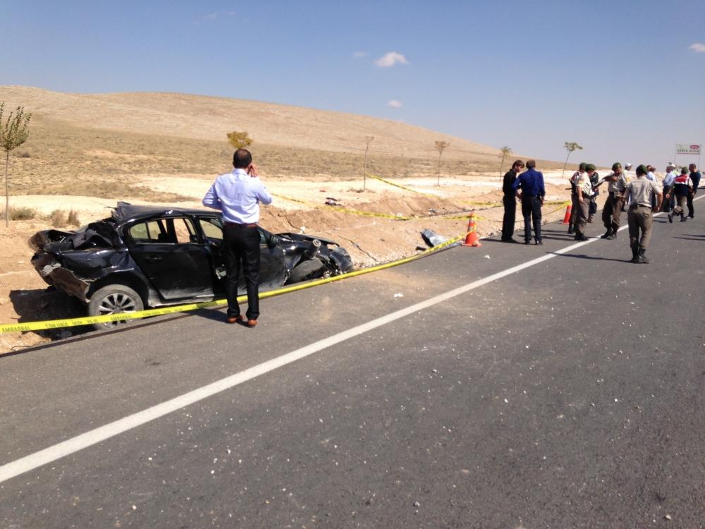 Konya'da otomobil devrildi: 1 ölü, 6 yaralı 1