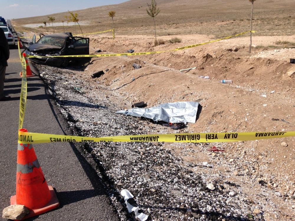 Konya'da otomobil devrildi: 1 ölü, 6 yaralı 5