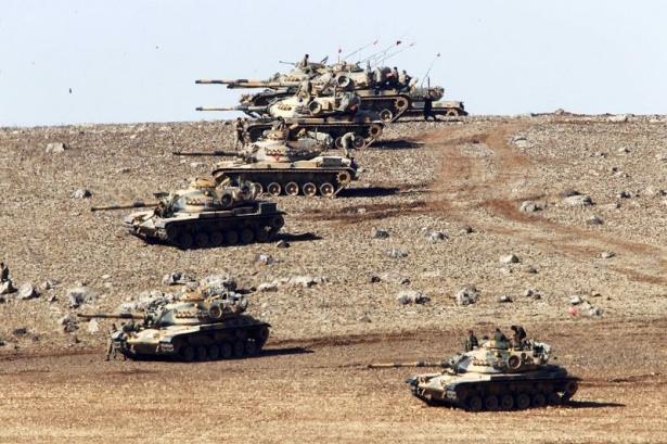 Türkiye'den Suriye sınırına tank duvarı 2