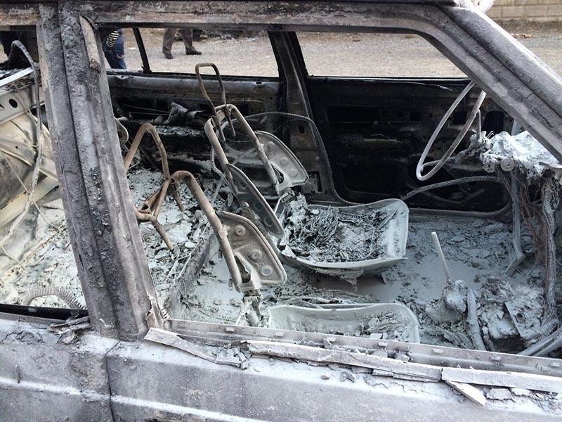 Kulu'da park halindeki otomobil yandı 3
