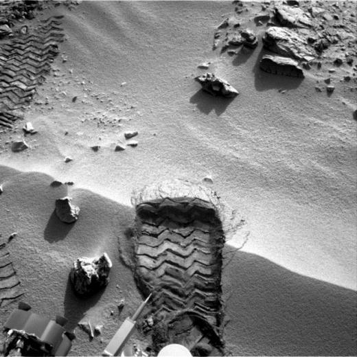 Curiosity'nin Mars'tan çektiği fotoğraflar 6