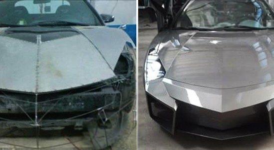 Lamborghini görünümlü Mitsubishi 1