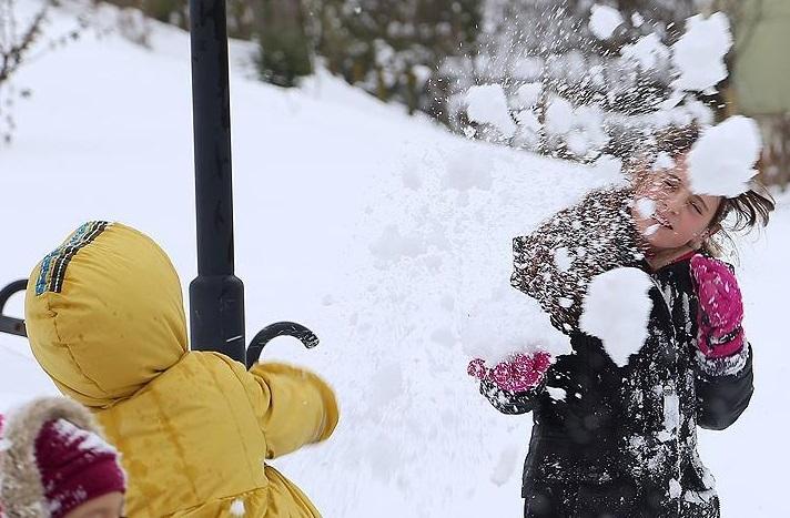 Konya'da eğitime kar engeli (8 Ocak Salı günü tatil)