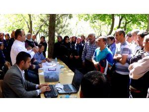 Seydişehir'de  geçici işçiler için kura heyecanı