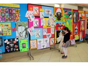 Seydilehir'de anaokulu öğrencileri sergi açtı