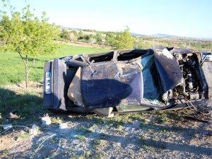 Otomobil devrildi: 1 ölü