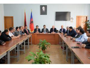 Türk polisinden Arnavutluk polisine eğitim