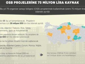 OSB projelerine 75 milyon lira kaynak