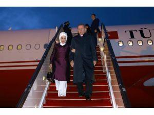 Cumhurbaşkanı Erdoğan Azerbaycan'a geldi