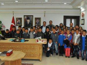 Öğrenciler dersi Başkan'la işledi