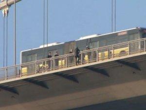 Boğaziçi Köprüsü'nde intihar girişimi!