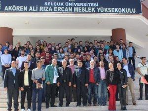"""Akören Ali Rıza Ercan MYO'da  """"Basın ve Konyaspor"""" heyecanı"""