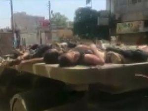 Afrin sokaklarındaki PYD/PKK vahşetine tepki