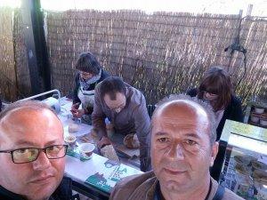 Ekrem Huğlu ve dostları Belfort'ta