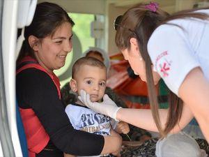 Nusaybin'de hasta kadın ve çocuğa yardım eli