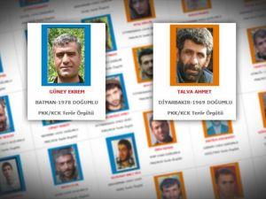 Mavi ve Turuncu listedeki iki terörist etkisiz hale getirildi