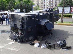 Zırhlı araç kaza yaptı: 3'ü polis, 4 yaralı