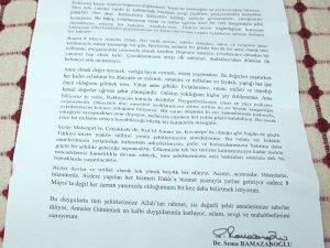 Bakan'dan şehit ailelerine mektup