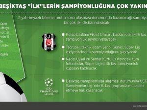 Beşiktaş 'ilk'lerin şampiyonluğuna çok yakın