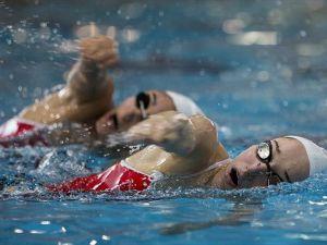 Senkronize yüzmede bir ilk