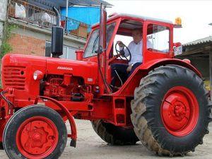 50 yıllık traktöre 30 bin lira harcadı