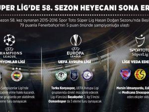 Süper Lig'de 58. sezon heyecanı sona erdi