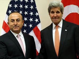 Çavuşoğlu ile Kerry terörle mücadeleyi görüştü