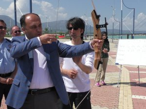 Beyşehir'de okçuluk yarışları yapıldı