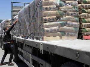 Gazze'ye çimento girişine izin verildi