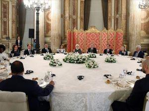 Cumhurbaşkanı Erdoğan, zirveye katılanlar onuruna yemek verdi